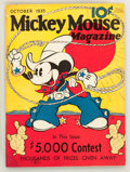 Platinum Age (1897-1937):Miscellaneous, Mickey Mouse Magazine #2 (K. K. Publications/ Western Publishing Co., 1935) Condition: Apparent VG/FN....