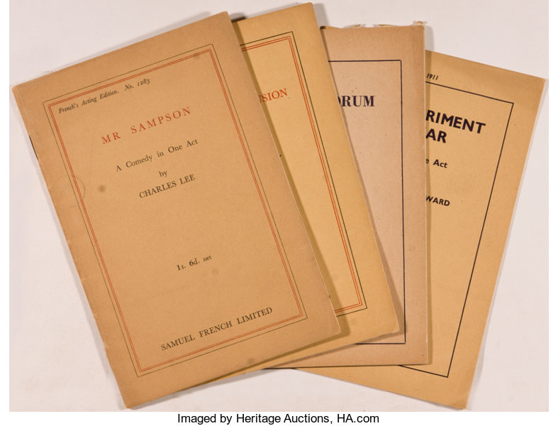 Samuel French Limited]  Lot of Four One Act Plays From the   Lot