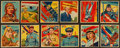 "Non-Sport Cards:Sets, 1933/34 R136 National Chicle ""Sky Birds"" Collection (81) With Scarce Backs Including Lindbergh/Series 144...."