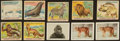"Non-Sport Cards:Sets, 1933 R78 World Wide Gum ""Jungle Gum"" (73) Complete Set Plus Extrasand 1933 Frostick ""Animal Cards"" (22). ..."