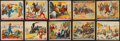 "Non-Sport Cards:Sets, 1933 R172 Gum Inc. ""Wild West Series"" Type 1 Near Set (48/49) PlusExtras. ..."