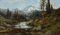 Fine Art - Painting, American:Antique  (Pre 1900), WILLIAM KEITH (American, 1839-1911). Mount Shasta. Oil on canvas. 22 x 36 inches (55.9 x 91.4 cm). Signed and inscribed ...