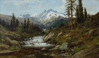 WILLIAM KEITH (American, 1839-1911) Mount Shasta Oil on canvas 22 x 36 inches (55.9 x 91.4 cm)