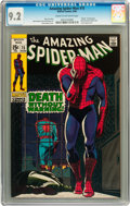 Silver Age (1956-1969):Superhero, The Amazing Spider-Man #75 (Marvel, 1969) CGC NM- 9.2 Cream to off-white pages....