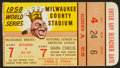 Baseball Collectibles:Tickets, 1958 World Series Game 7 Ticket Stub. ...