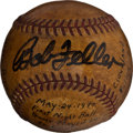Baseball Collectibles:Balls, 1940 First Night Game in St. Louis Game Used Baseball....