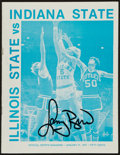 Basketball Collectibles:Programs, 1977 Larry Bird Signed Indiana State Program....