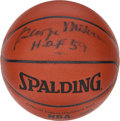 Basketball Collectibles:Balls, George Mikan Signed Basketball....