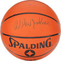 Basketball Collectibles:Balls, Kareem Abdul Jabbar Signed Basketball....