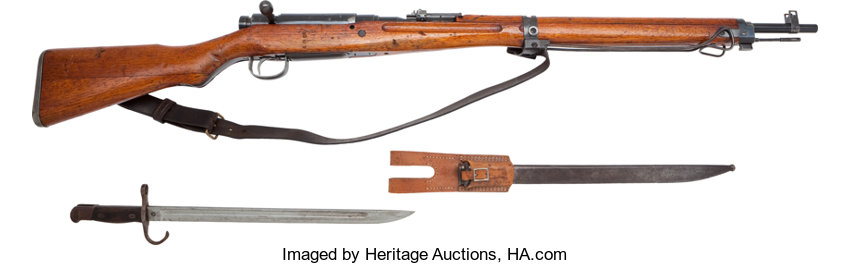 Japanese Arisaka Type 99 Bolt Action Military Rifle and Type 30