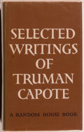 Books:Literature 1900-up, Truman Capote. Selected Writings of Truman Capote. New York:Random House, [1959]. First printing. Octavo. 460 p...