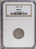 Bust Dimes: , 1820 10C Medium 0 MS62 NGC. JR-10, R.3. The surfaces aregunmetal-gray and display traces of luster, and the designfeature...