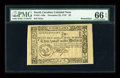 Colonial Notes:South Carolina, South Carolina December 23, 1776 $2 PMG Gem Uncirculated 66 EPQ....