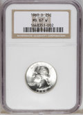 Washington Quarters: , 1960-D 25C MS67 W NGC. This essentially brilliant Superb Gemfeatures dazzling luster and exquisite preservation. A full st...