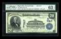 National Bank Notes:Pennsylvania, Biglerville, PA - $20 1902 Plain Back Fr. 651 The Biglerville NBCh. # (E)7917. ...