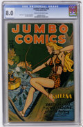 Golden Age (1938-1955):Adventure, Jumbo Comics #90 (Fiction House, 1946) CGC VF 8.0 Cream to off-white pages....