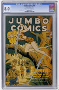 Golden Age (1938-1955):Miscellaneous, Jumbo Comics #89 (Fiction House, 1946) CGC VF 8.0 Cream to off-white pages....