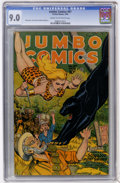 Golden Age (1938-1955):Adventure, Jumbo Comics #87 (Fiction House, 1946) CGC VF/NM 9.0 Cream to off-white pages....