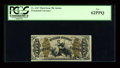 Fractional Currency:Third Issue, Fr. 1347 50c Third Issue Justice PCGS New 62PPQ....