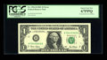 Error Notes:Mismatched Serial Numbers, Fr. 1926-B $1 2001 Federal Reserve Note. PCGS Superb Gem New 67PPQ.. ...