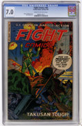 Golden Age (1938-1955):War, Fight Comics #85 (Fiction House, 1953) CGC FN/VF 7.0 Cream tooff-white pages....