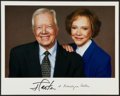 Miscellaneous Collectibles:General, Jimmy and Rosalynn Carter Multi Signed Photograph....