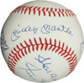Autographs:Bats, 500 Home Run Multi Signed Baseball (10 Signatures). ...