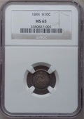 Seated Half Dimes, 1844 H10C MS65 NGC....