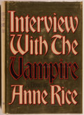 Books:Horror & Supernatural, Anne Rice. Interview With a Vampire. New York: Alfred A. Knopf, 1976. First edition. Octavo. 372 pages. Publishe...