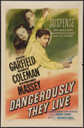 """Movie Posters:War, Dangerously They Live (Warner Brothers, 1942). One Sheet (27"""" X41""""). War.. ..."""