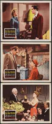 "All About Eve (20th Century Fox, 1950). Lobby Cards (3) (11"" X 14""). Academy Award Winners. ... (Total: 3 Item..."