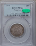 Seated Quarters, 1873 25C Arrows MS64 PCGS. CAC....