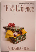"Books:Mystery & Detective Fiction, Sue Grafton. ""E"" is for Evidence. A Kinsey Millhone Mystery.New York: Henry Holt and Company, 1988. First editi..."