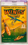 Golden Age (1938-1955):War, Wings Comics #9 (Fiction House, 1941) CGC Apparent VF- 7.5 Slight(A) Off-white to white pages....