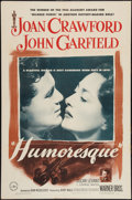 "Movie Posters:Romance, Humoresque (Warner Brothers, 1946). One Sheet (27"" X 41""). Romance.. ..."