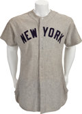 Baseball Collectibles:Uniforms, 1952 Tom Morgan Game Worn New York Yankees Jersey....