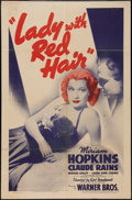 "Movie Posters:Documentary, The Lady with Red Hair (Warner Brothers, 1940). One Sheet (27"" X 41""). Documentary.. ..."