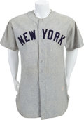 Baseball Collectibles:Uniforms, 1952 Bill Dickey Game Worn New York Yankees Jersey....