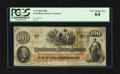 Confederate Notes:1862 Issues, J. Whatman 1862 Watermarked T41 $100 1862.. ...