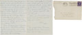 Autographs:Letters, 1949 Handwritten Letter Home from Mickey Mantle's Roommate withIndependence Yankees....