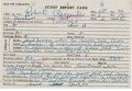 Autographs:Others, 1954 Roberto Clemente Scouting Report by Pittsburgh Pirates....