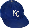 Baseball Collectibles:Uniforms, Early 1970's Lou Piniella Game Worn Kansas City Royals Cap....