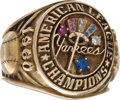 Baseball Collectibles:Others, 1960 New York Yankees American League Championship Ring....