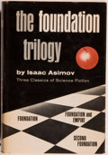 Books:Science Fiction & Fantasy, [Jerry Weist]. Isaac Asimov. SIGNED. The Foundation Trilogy. Garden City: Doubleday, [n. d.]. Book club edition....
