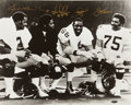 "Football Collectibles:Photos, Pittsburgh Steelers ""Steel Curtain"" Multi Signed Oversized Photograph...."