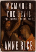 Books:Horror & Supernatural, Anne Rice. INSCRIBED. Memnoch the Devil, The VampireChronicles. New York: Knopf, 1995. First edition. Inscrib...