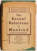 Books:Medicine, Paolo Mantegazza. The Sexual Relations of Mankind. New York:Eugenics Publishing, 1935. First American edition, ...