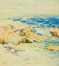 Fine Art - Painting, American, ANNA ALTHEA HILLS (American, 1882-1930). The Arch, LagunaBeach. Watercolor on board. 9-1/2 x 8-1/2 inches (24.1 x 21.6... (Total: 1 Pieces)