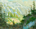 Paintings, PETER ADAMS (American, b. 1950). Early Spring Afternoon, Light on Mount Baldy, 2011. Oil on canvas. 16 x 20 inches (40.6...