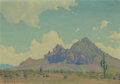 Fine Art - Painting, American:Modern  (1900 1949)  , HARRY WAGONER (American, 1889-1950). Camelback Mountain,Arizona. Oil on canvas. 17-1/2 x 24-1/2 inches (44.5 x 62.2cm)...
